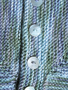 22b Baby Surprise Jacket - Detail