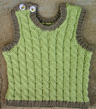 38 Cabled Baby Vest