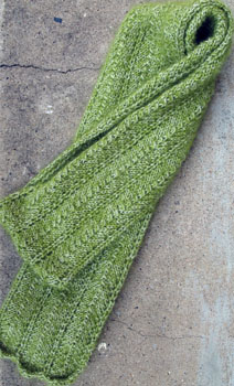 42a Cream of Spinach Scarf