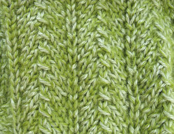 42b Cream of Spinach Scarf - Detail