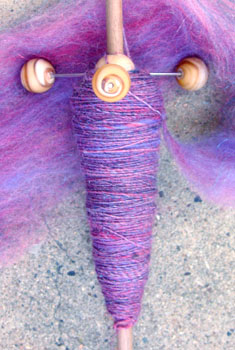Spindle closeup
