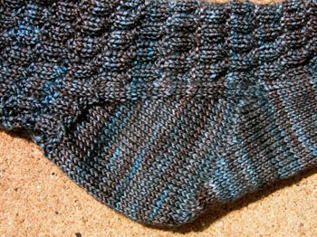 57c Alternating 2x2 Rib Sock - Fleegle Heel