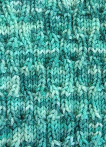 66b Tesserae Socks - Outside Detail