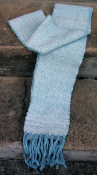 02a Blue White Scarf