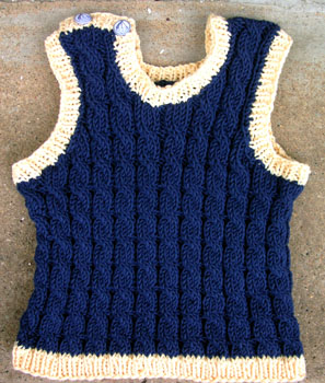 82 Cabled Baby Vest