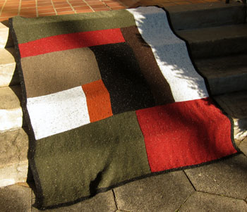 01a Moderne Log Cabin Blanket