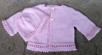 21b-22b Preemie Hat & Cardi