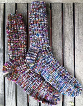 17a Blueberry Waffle Socks