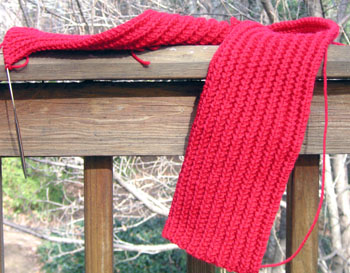 A_red_scarf